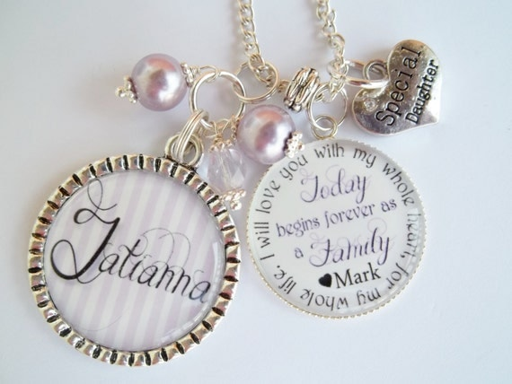 Personalized Step Daughter Half Sister Gift Wedding Two Family Joining ...