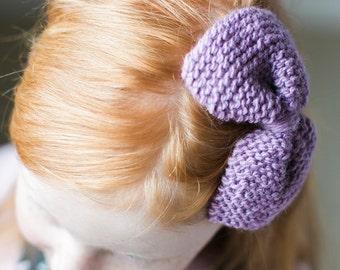 lilac hair bow clip