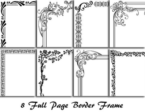 8 digitale ganzseitige Grenze Clip Art voller Seite Rahmen