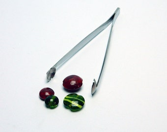 "Tweezers-press ""LENTIL"" No. 3. (small), lampwork tools, lampworking"