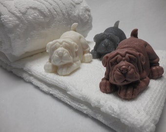 Dog Soap - Shar Pei Gift - Doggy Soap - Puppy Soap - Shar Pei Dog - Dog Lover Gift - Glycerin Soap - Custom Soap Favors - Kids Party Favors