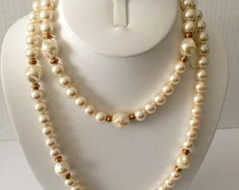 Carolee 36 ins single strand pearl necklace