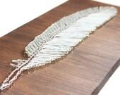 String Art Pattern, DIY String Art, Feather Design, 24 x 9 Home Decor String Art Template