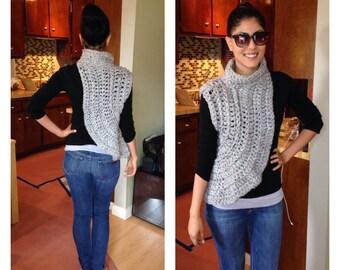 Crochet Shawl / Cowl (Katniss-Hunger Games Inspired)