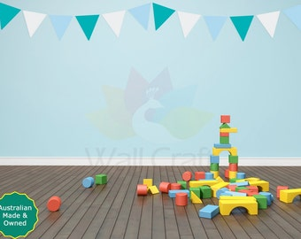 Bunting Wall Decals Bunting Wall Stickers Kids Room Decals Fabric Nursery Wall Stickers