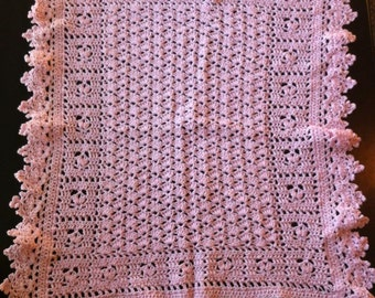 Soft and Pink Baby Girl Afghan