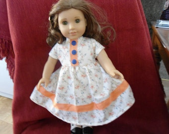 Spring dress for 18 inch doll