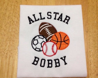 All Star Sports Bodysuit or Shirt
