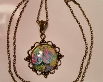 Romantic colorful necklace Vintage Rosen
