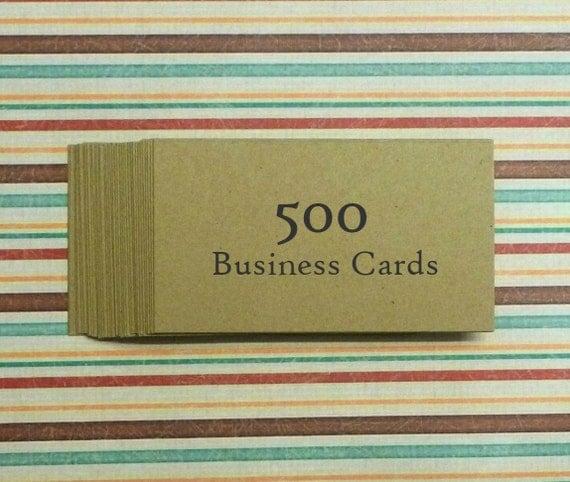 500 kraft business cards business card kraft cards blank