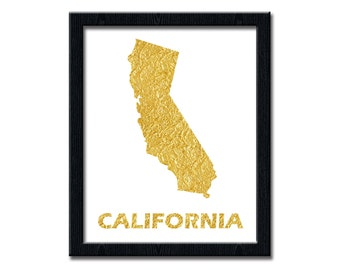 Your State Print, Gold Leaf Map, Custom Printable Wall art Decor, Texas art, Digital Printable, Custom State Print, Gold Poster, wp147