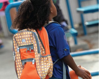 Sydney Paige BUY one GIVE one_Kids Backpack_Orange Tunnels