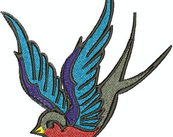 Digital Embroidery Design - Sparrow