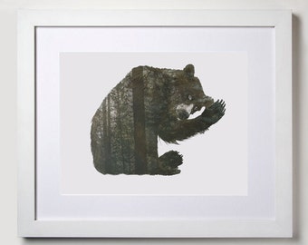 Brown Bear, Waving, Animal Pictures, Printable Art