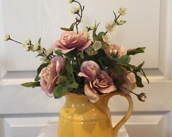 Ceramic Flower Pitcher Arrangement