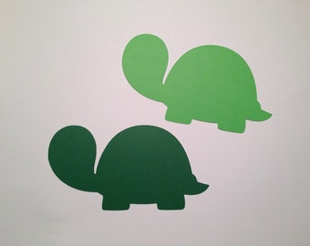 20 Green Turtle Die Cuts