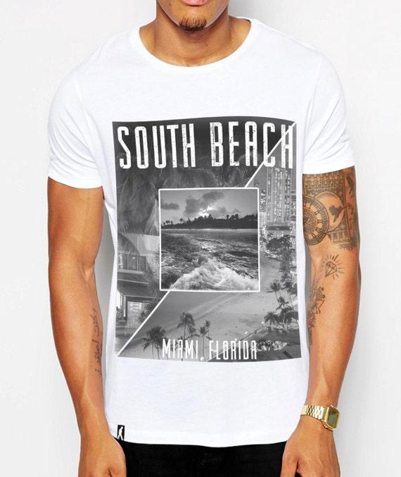 Distinkt youth south beach miami mens fashion print t shirt for Miami t shirt printing