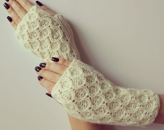 Hand Warmers - Wrist Warmers - Knit Fingerless Gloves