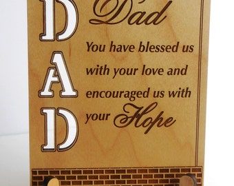 Dad Fathers Day Gift,Dad  Valentines Gift, Dad Appreciation Gift, Dad's Birthday / Appreciation,Son to Dad Gift, Daughter to Dad Gift