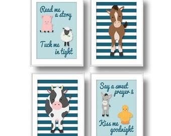 Farm Nursery Decor, Read Me a Story Nursery Wall Art, Baby Farm Animals Nursery