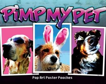 Pop Art Pet Portrait poster A3