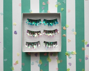 Glitter festival party eyelashes pack