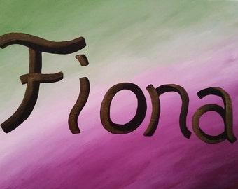 Custom Acrylic Name Painting-Free Shipping!