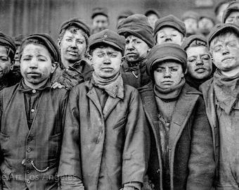 "Lewis Hine Photo ""Breaker Boys, Coal Mine"" 1911"