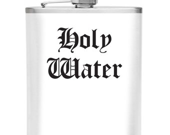 Holy Water Matte Stainless Steel 6 oz Flask