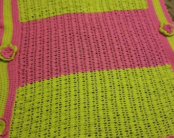 Crochet baby girl blankets ! Can customize!