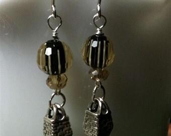Sterling Silver Basket Earrings