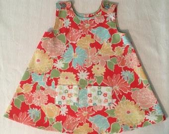 A-Line, 2T, light-weight cotton, floral dress