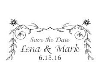 Personalized Save the Date Wedding Stamp - SC25
