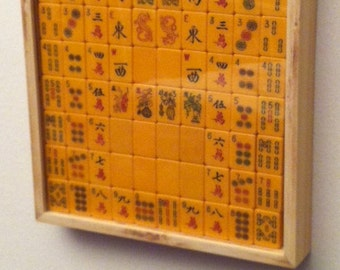 Mah Jongg tiles display case
