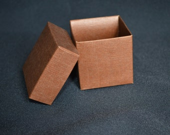 On Sale** Brown Square Paper Wedding Favor Boxes- Set of 12