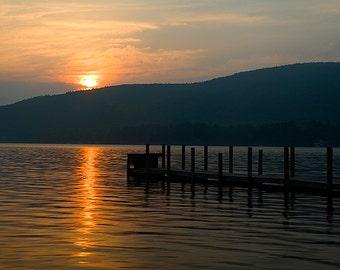 Adirondack Sunrise Photography, Lake George, Adirondack Mountains, Lake George Picture, Lake George Photo, Nature Print, Adirondack Decor