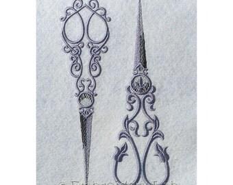 Vintage Scissors - machine embroidery designs / Set