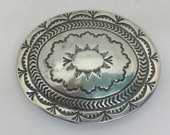 Beautiful Sterling Silver Vintage belt buckle