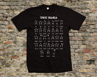 New Zealand Rugby Haka T Shirt 100% cotton - 1969