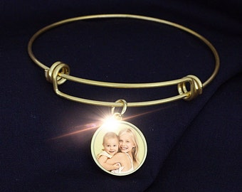 Expandable Photo Charm Bracelet