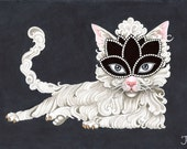 All Hallows White cat limited signed and numbered prints.
