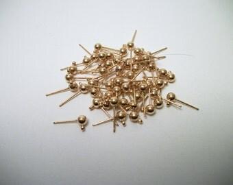 Earstud earrings 10 Golden Stud nickel and lead free