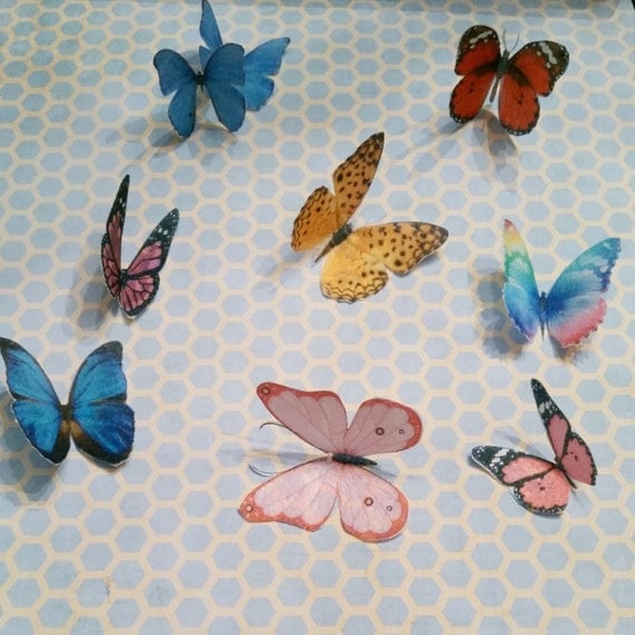 wafer paper butterflies