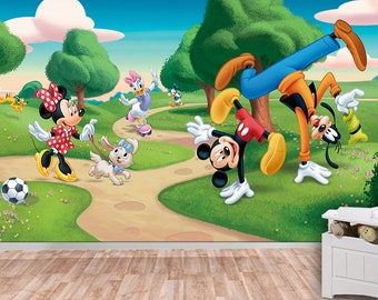 Mickey Mouse Wall Mural, Wallpaper, Wall Décor, Wall Decal, Nursery And Room Part 40