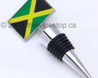 Jamaica Flag Wine Stopper - Premium