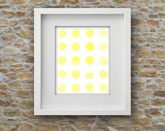 Lemons Watercolor Printable Art Lemon Yellow Citrus Instant Digital Download Poster Wall Print