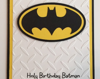 Handmade Batman Birthday Card