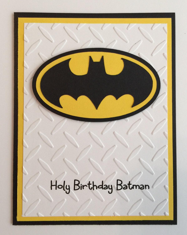 Handmade Batman Birthday Card – Batman Birthday Cards