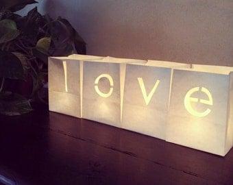 Paper lanterns LOVE