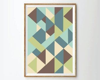 Mid century print poster, retro poster, retro art, Geometric print poster, Abstract Prints Posters, Abstract Art, Geometric Art